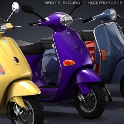 Fashionable Modern Vespa Collection 3D Model In Motorcycle 3Dexport Throughout Vespa 3D Wall Art (View 4 of 15)