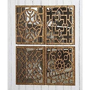 Fashionable Moroccan Metal Wall Art With Tutti Decor Set Of 4 Moroccan Style Square Mirrored Wall Art Each (View 3 of 15)