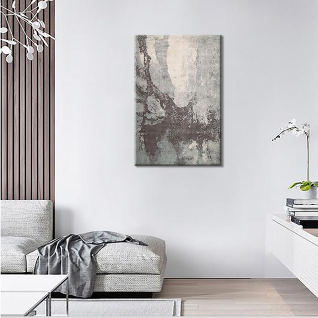Fashionable Mottled Cement Board Abstract Canvas Painting Wall Art Deco Drawings Inside Abstract Wall Art For Bedroom (View 8 of 15)