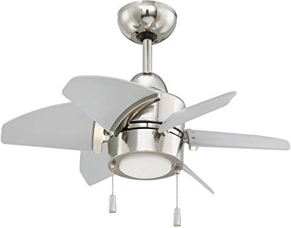 Fashionable Nickel Outdoor Ceiling Fans With Regard To Craftmade Outdoor Ceiling Fan With Led Light Ppl24Pln6 Propel  (View 5 of 15)
