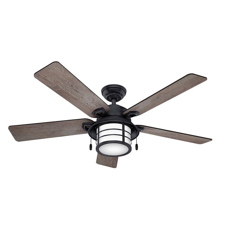 "Fashionable Outdoor Ceiling Fans With Removable Blades Inside Hunter Fan 54"" Key Biscayne 5 Blade Outdoor Ceiling Fan & Reviews (View 8 of 15)"