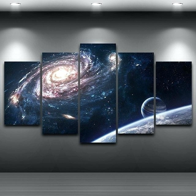 Fashionable Outer Space Painting – Knitvision (View 7 of 15)
