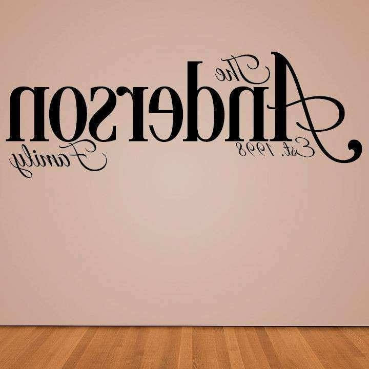 Fashionable Personalized Last Name Wall Decor Beautiful Personalized Wall Decal Pertaining To Personalized Last Name Wall Art (View 3 of 15)