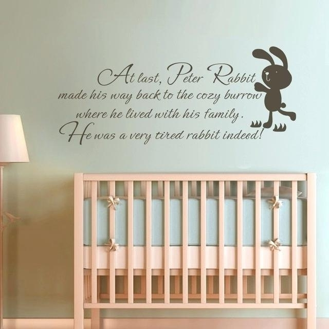 Fashionable Peter Rabbit Wall Art Regarding Peter Rabbit Wall Art Children Wall Quote Peter Rabbit Baby Nursery (View 6 of 15)