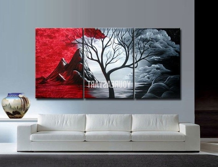 Fashionable Piece Wall Art Large Cheap Modern Abstract Oil Painting Canvas Intended For Cheap Contemporary Wall Art (View 8 of 15)