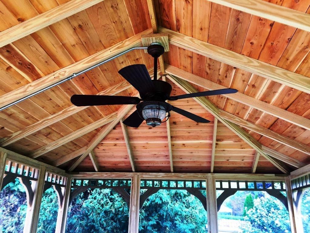 Fashionable Portable Gazebo Ceiling Fan : Enjoy Outdoors Gazebo Ceiling Ideas Within Outdoor Ceiling Fans For Gazebo (View 3 of 15)