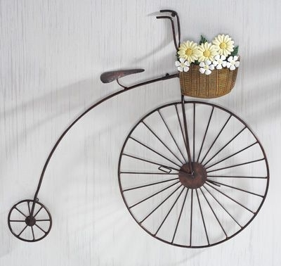 Fashionable Primitive Country Bicycle Metal Wall Art (View 3 of 15)
