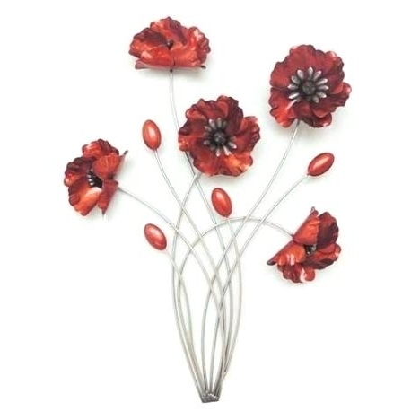 Fashionable Red Poppy Wall Art Red Poppies Metal Wall Art Furniture Point Poppy Pertaining To Metal Poppy Wall Art (View 3 of 15)