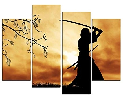 Fashionable Samurai Wall Art Pertaining To Amazon: Smartwallart – Figure Paintings Wall Art Bushido Spirit (View 7 of 15)