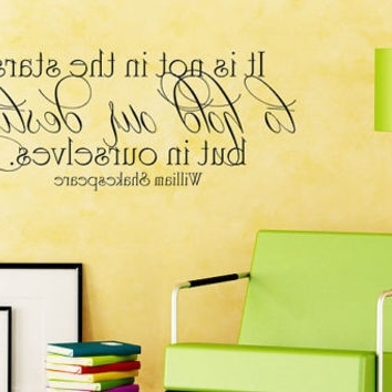 Fashionable Shakespeare Wall Art Intended For Shop Shakespeare Wall Decal On Wanelo (View 13 of 15)