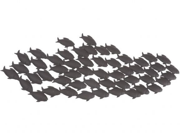 Fashionable Shoal Of Fish Wall Art (View 4 of 15)