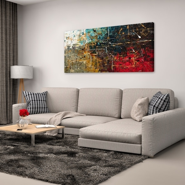 Fashionable Shop Carmen Guedez 'equilibrium' Canvas Wall Art (24 X 48) – Free With Overstock Abstract Wall Art (View 10 of 15)
