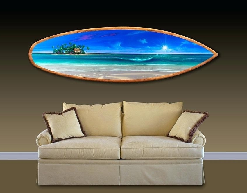 Fashionable Surfboards Wall Decor Huge Large Tremendous Surfboard Wall Art Home Pertaining To Decorative Surfboard Wall Art (View 12 of 15)