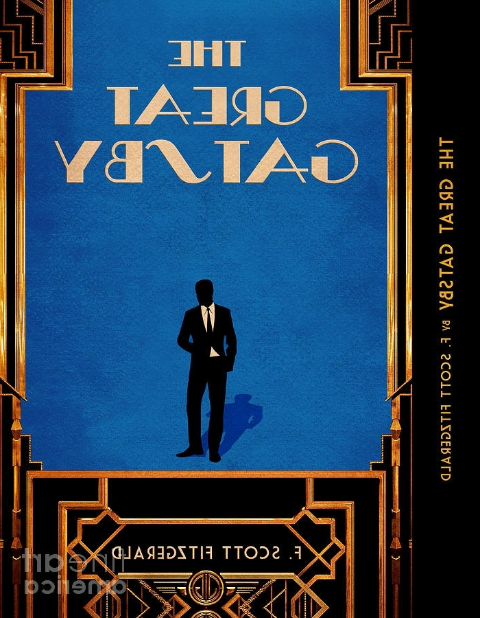 Fashionable The Great Gatsby Book Cover Movie Poster Art 4 Digital Art With Great Gatsby Wall Art (View 4 of 15)