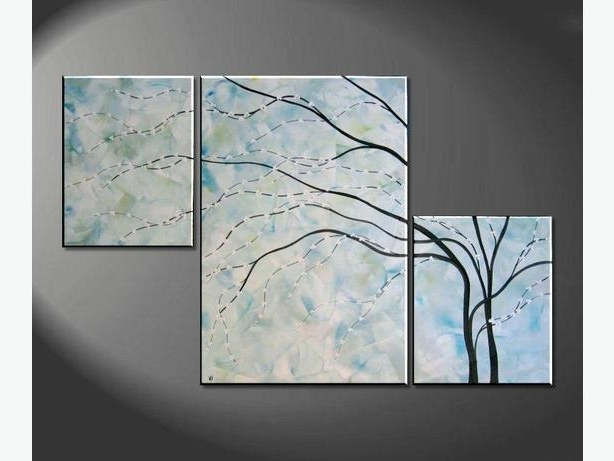 Fashionable Turquoise Painting Large Wall Art Cherry Blossom Modern Abstract pertaining to Ottawa Abstract Wall Art