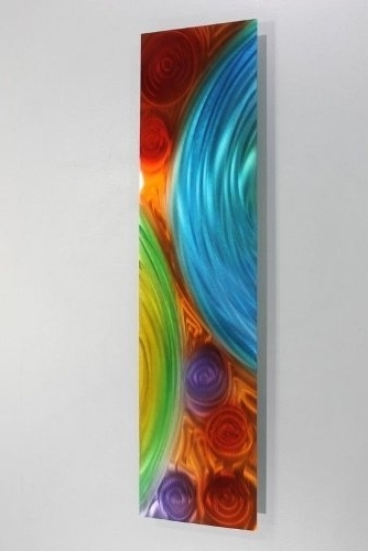 Fashionable Vibrant Wall Art Pertaining To Amazon: Vibrant Blue, Red, Purple, Green & Orange Prismatic (View 5 of 15)