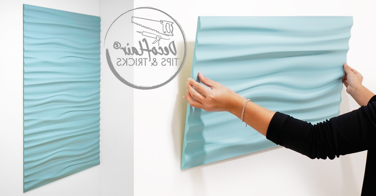 Fashionable Vidella 3D Wall Art Regarding How To Install Our 3D Wall Panels (View 3 of 15)