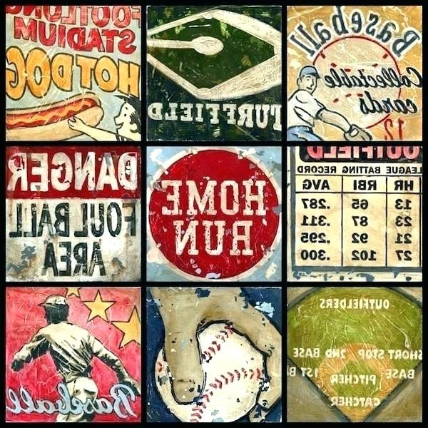 Fashionable Vintage Baseball Wall Art Intended For Vintage Baseball Wall Art Vintage Baseball Wall Art With Vintage (View 2 of 15)