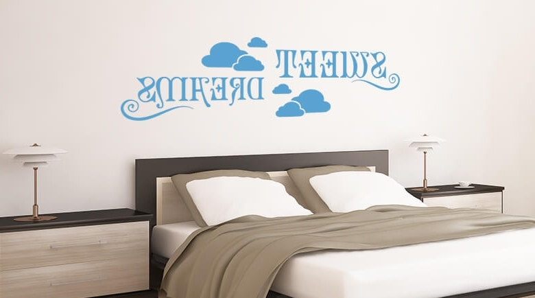Fashionable Wall Art For Bedrooms Regarding Sweet Dreams Modern Bedroom Wall Art Stickers – Lendance (View 4 of 15)