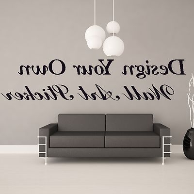 Fashionable Wall Art Ideas Design Ceiling Hanging Custom Wall Art Quotes In In Customized Wall Art (View 1 of 15)