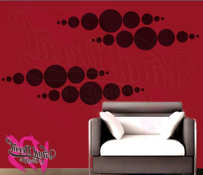 Fashionable Wall Decal, Abstract Wall Art, Modern Wall Decor, Abstract Wall Inside Abstract Art Wall Decal (View 7 of 15)