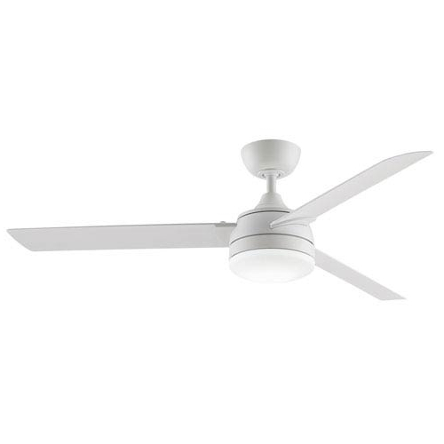 Fashionable White Outdoor Ceiling Fans In Fanimation Xeno Matte White 56 Inch Energy Star Led Outdoor Ceiling (View 11 of 15)