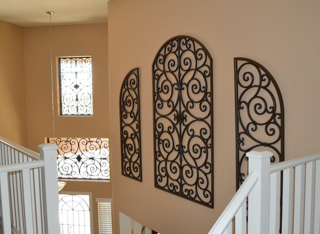 Faux Wrought Iron Wall Art Inside Well Known Metal Wall Art Decor Interior — Joanne Russo Homesjoanne Russo Homes (View 11 of 15)