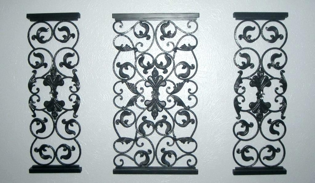 Faux Wrought Iron Wall Art With Regard To Most Up To Date Wrought Iron Metal Wall Art Metal Wall Art Wrought Iron Wall Decor (View 10 of 15)