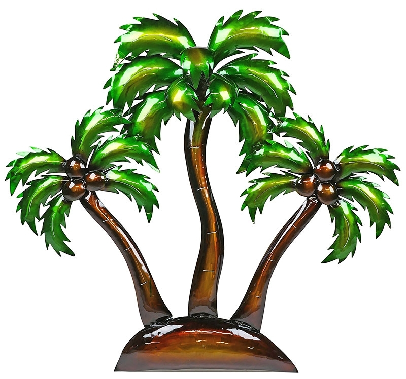 Favorite 3D Metal Island Palm Trees Wall Art With Palm Tree Metal Art (View 2 of 15)