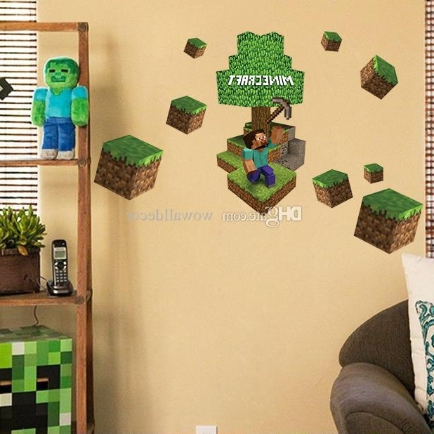 Favorite 3D Minecraft Wall Stickers Steve Decorative Wall Decal Cartoon For Minecraft 3D Wall Art (View 5 of 15)
