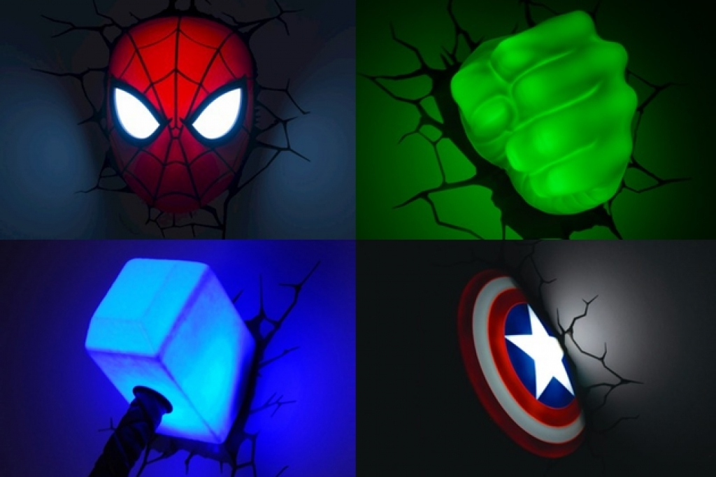 Favorite 3D Wall Art Night Light Australia Pertaining To Superhero Wall Lights Australia – Wall Designs (View 6 of 15)