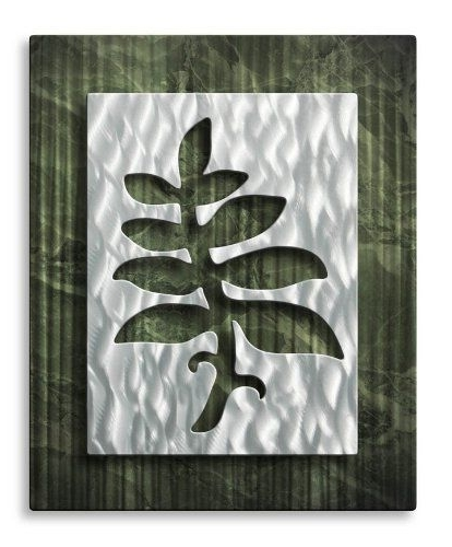 Favorite Abstract Leaf Metal Wall Art Throughout Abstract Tree Leaf Metal Wall Art, Modern Home Decor, Contemporary (View 12 of 15)
