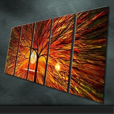 Favorite Abstract Outdoor Wall Art For Modern Art Abstract Original Art Indoor Decor Metal Wall Art (View 10 of 15)