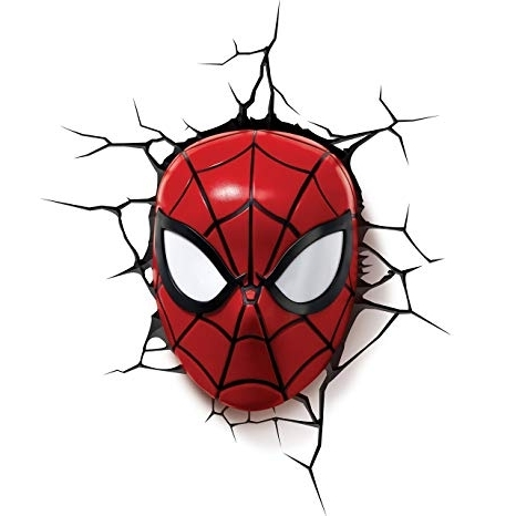 Favorite Amazon: 3Dlightfx Marvel Spiderman Mask 3D Deco Light: Toys & Games Inside 3D Wall Art Night Light Spiderman Hand (View 14 of 15)