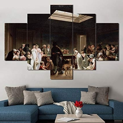 Favorite Amazon: Extra Large Vintage Wall Art Game Of Billiardslouis Throughout Large Vintage Wall Art (View 3 of 15)