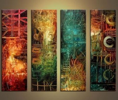 Favorite Ancient Wisdom Modern Canvas Oil Painting Wall Art With Stretched Intended For Oil Painting Wall Art On Canvas (View 5 of 15)