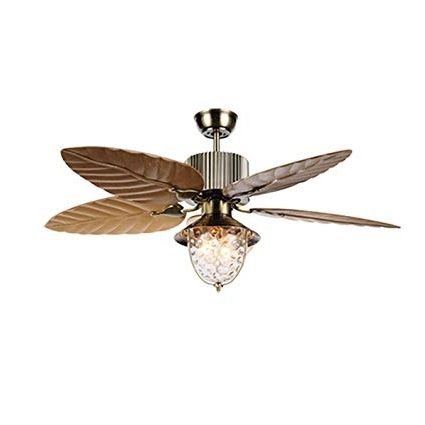 Favorite Andersonlight 52 Inches Tropical Ceiling Fan Remote Indoor Outdoor Throughout Outdoor Ceiling Fans With Palm Blades (View 5 of 15)
