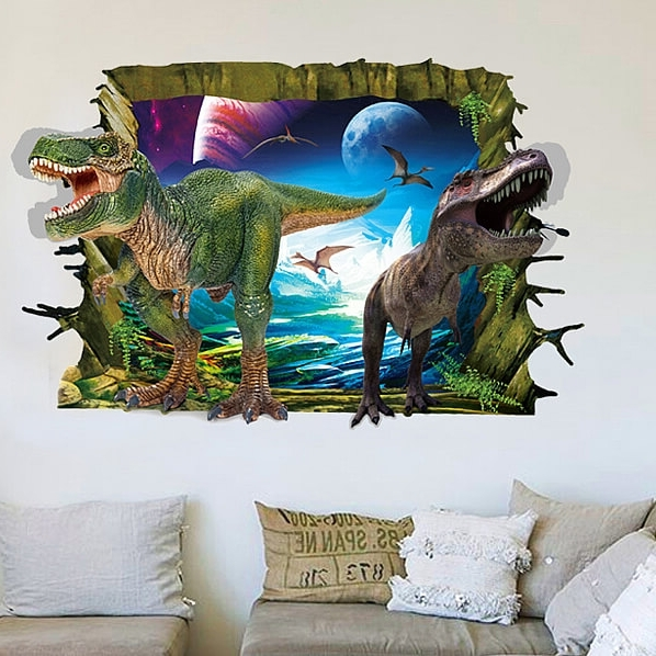 Favorite Animals 3D Wall Art Throughout Dazzling Design Ideas 3D Dinosaur Wall Art Interior Designing Home (View 8 of 15)