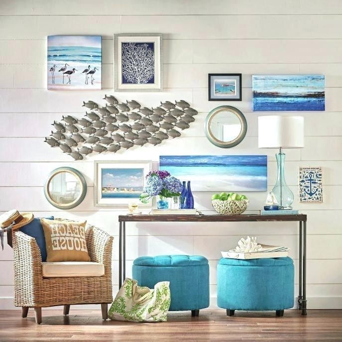 Favorite Beach Cottage Wall Art Inside Superb Beach Wall Decor Beach Wall Art For Bathroom Large Size Of (View 12 of 15)