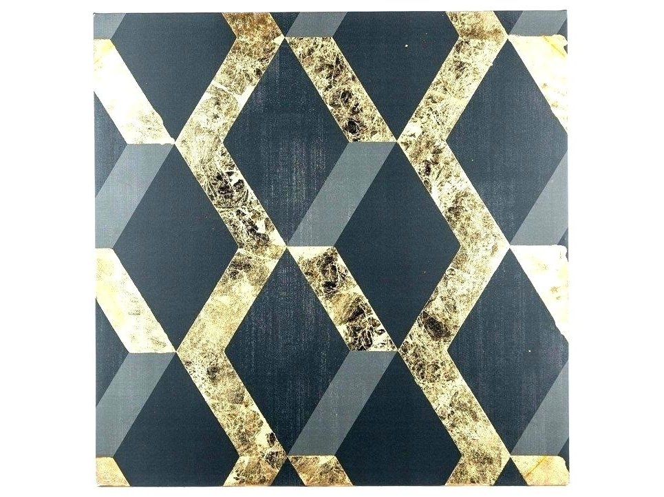 Favorite Black And Gold Wall Art Abstract Print Whitesilver – Chann Intended For Hobby Lobby Abstract Wall Art (View 11 of 15)
