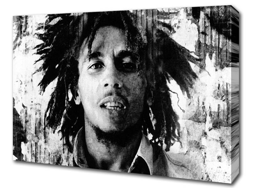 Favorite Bob Marley Canvas Wall Art intended for Bob Marley Redemption Song People Canvas Stretched Canvas