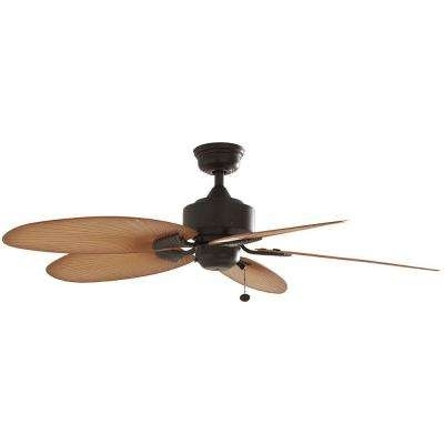 Favorite Bronze – Outdoor – Ceiling Fans – Lighting – The Home Depot Within Bronze Outdoor Ceiling Fans With Light (View 6 of 15)