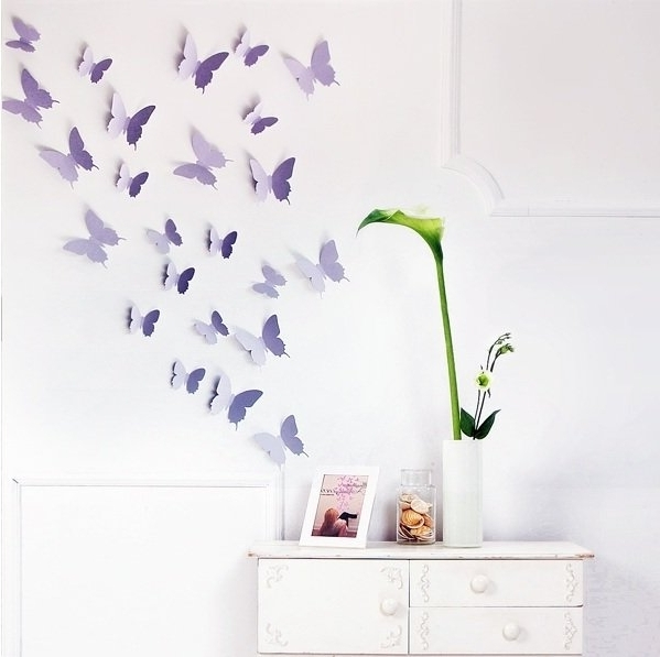 Favorite Butterfly Wall Decals (View 10 of 15)