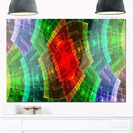 Favorite Buy Design Art Mt12079 20 12 Colorful Psychedelic Fractal Metal Grid In India Abstract Metal Wall Art (View 5 of 15)