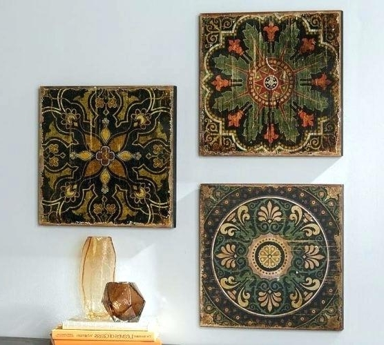Favorite Ceramic Tile Wall Art Intended For Ceramic Wall Art Decor Wall Art Ceramic Tile Wall Art Barn Home (View 8 of 15)