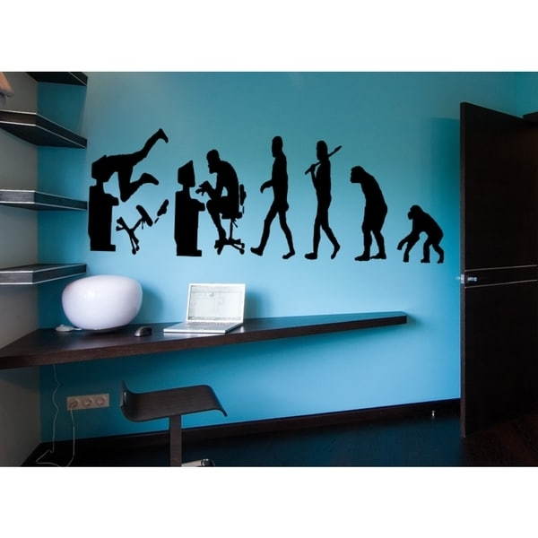 Favorite Computer Wall Art With Regard To Shop Evolution Monkey Man Computer Wall Art Sticker Decal – Ships To (View 8 of 15)