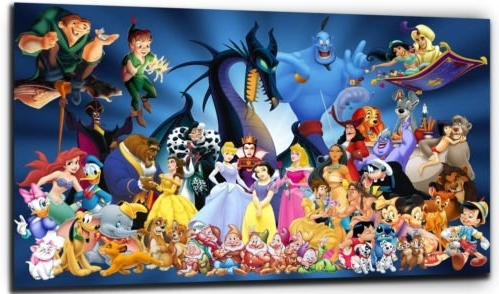 Favorite Disney Canvas Wall Art With Regard To Disney Characters Canvas Print – Color: As Shown In Picture – Canvas (View 6 of 15)