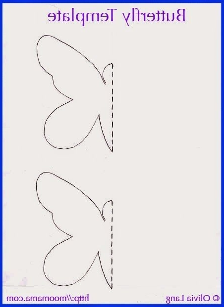 Favorite Diy 3D Wall Art Butterflies Intended For Moomama: Diy 3D Butterfly Wall Art With Free Templates – Http (View 7 of 15)