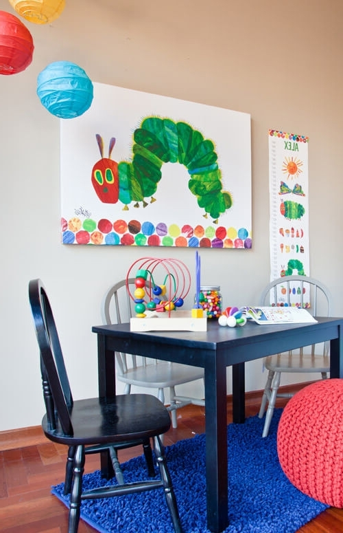 Favorite Eric Carle's The Very Hungry Caterpillar (Tm), Eric Carle Canvas Regarding Very Hungry Caterpillar Wall Art (View 1 of 15)