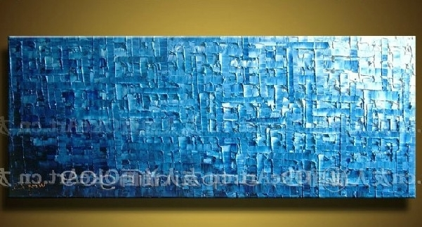 Favorite Free Shipping Canvas Wall Art Blue Abstract Painting Modern Decor Intended For Blue Abstract Wall Art (View 5 of 15)